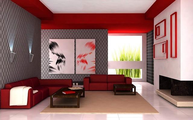 Salon rouge design